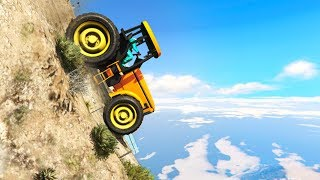 EXTREMELY DANGEROUS TRACTOR RACE! (GTA 5 Races)
