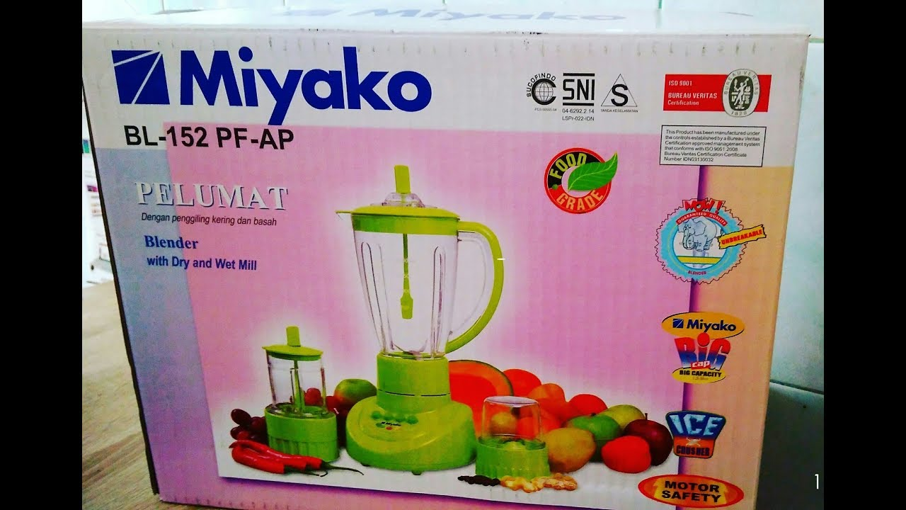 Unboxing And Review Blender Miyako Bl 152 Pf Ap I Indonesia Youtube