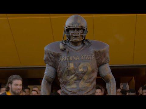 Arizona State honors Pat Tillman with statue at Sun Devil Stadium