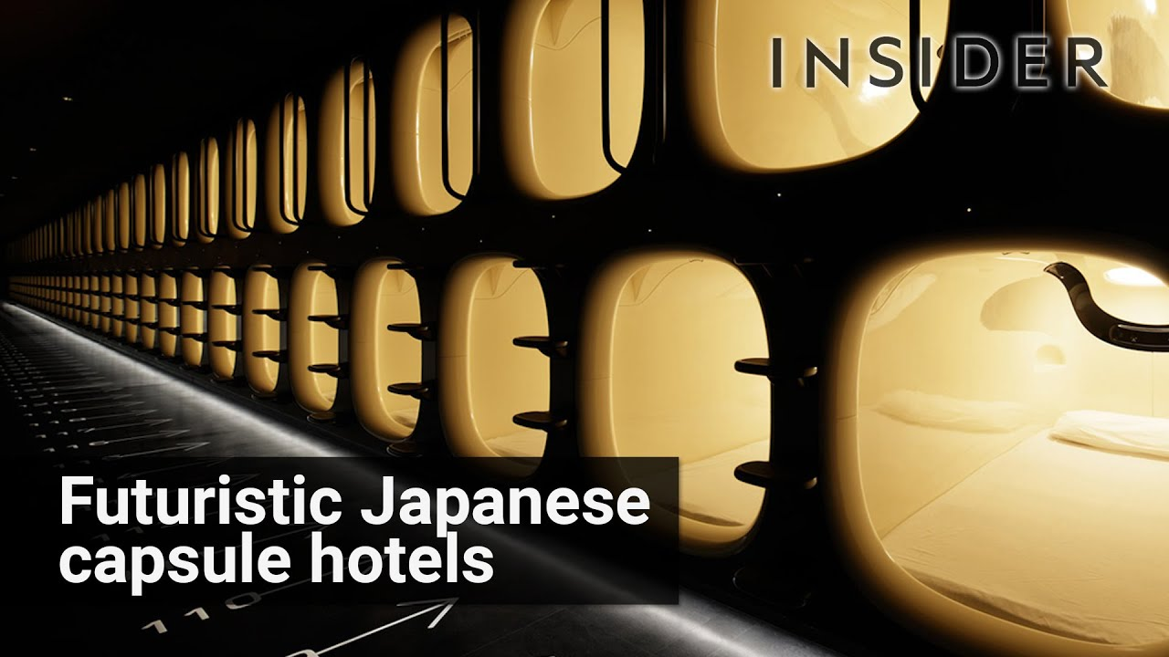 Japanese Capsule Hotel Youtube