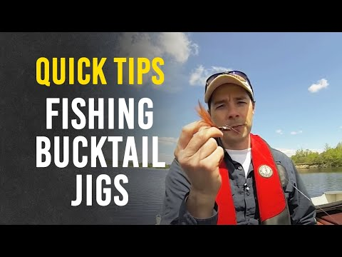 Tips For Fishing Bucktail Jigs