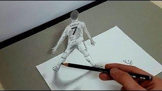 رسم كريستيانو رونالدو  Draw Cristiano Ronaldo 3D