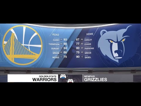Golden State Warriors at Memphis Grizzlies LIVE 18. Durant 41 points Gasol 58 points
