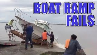Funny Boat Ramp and Boat Launch Fails