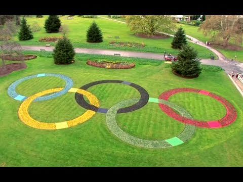 Giant Olympic Rings in Kew Gardens - London 2012 #100daystogo