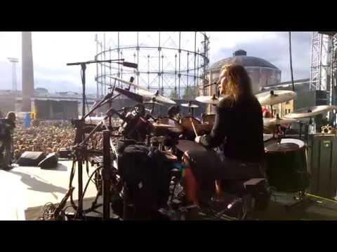 Pearl Artist Jaska Raatikainen Drum Cam - Lake Bodom @ Tuska, Helsinki Finland 27.6.2014