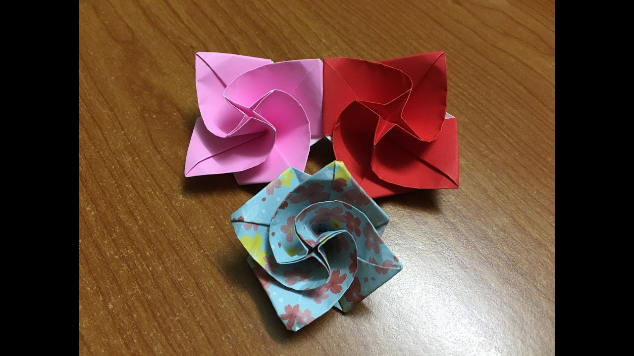How to fold origami diamond rose origami flower tutorial video how to fold origami diamond rose origami flower tutorial video mightylinksfo