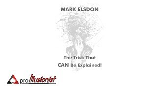 The Trick that CAN be explained by Mark Elsdon - Trailer