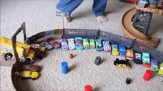 Disney Cars 3 Crazy 8 Crashers Demolition Derby at Thunder Hollow Speedway Playset