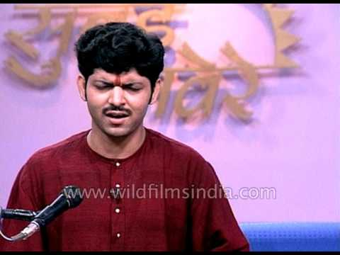 Ganesh Prasad sings Tappa, a form of Indian semi-classical vocal music