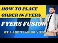 HOW TO PLACE ORDERS IN FYERS TRADING PLATFORM