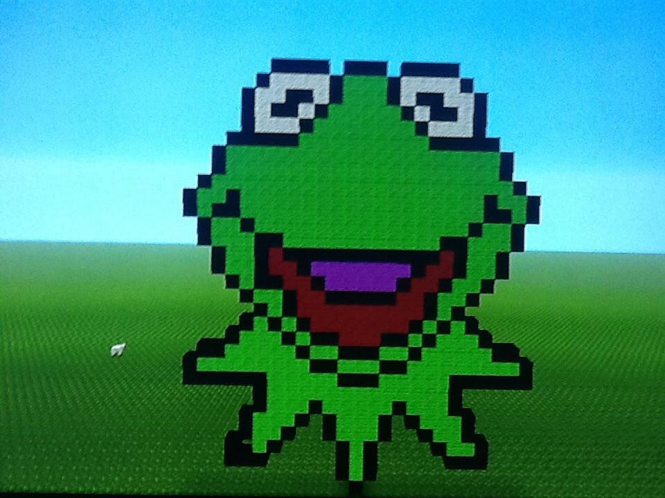 Minecraft Pixel Art Tutorial Kermit The Frog Youtube