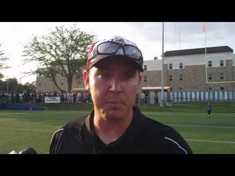 Bishop Luers High School football coach Kyle Lindsay