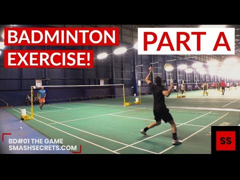 IMPROVE Your BADMINTON GAME With This SIMPLE EXERCISE! [Badminton Drills #01: PART A - THE GAME]