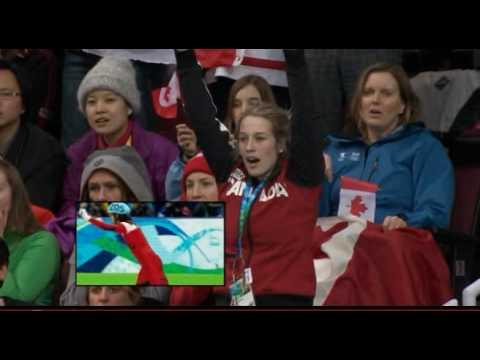 Marianne St-Gelais watches boyfriend Charles Hamelin win gold