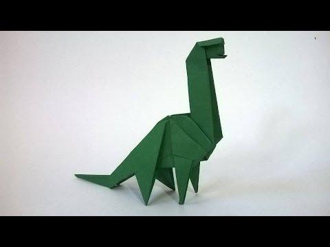 Origami Dinosaurio de papel Audio espaol origami paper dinosaur