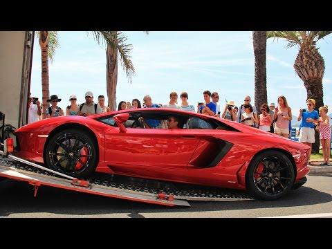Lamborghini Aventador Delivery in Cannes