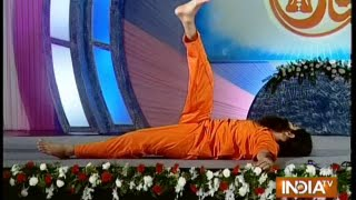 Baba Ramdev's cure for Spinal chord pain (shavasan on back)