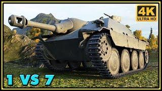 Hetzer - 12 Kills - 2,7K Damage - 1 VS 7 - World of Tanks Gameplay