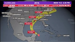 Download lagu Hurricane Zeta: Forecast cone, spaghetti models and position as it gets closer to Gulf of Mexico