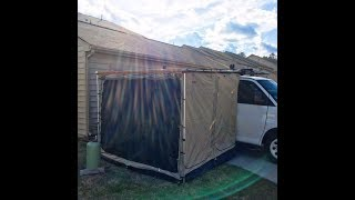 After my first day of setting up the ARB 2500 x 2500 Awning Room, I...