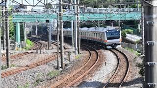 E233系0番台トタT71編成東海道貨物線試運転 東戸塚通過