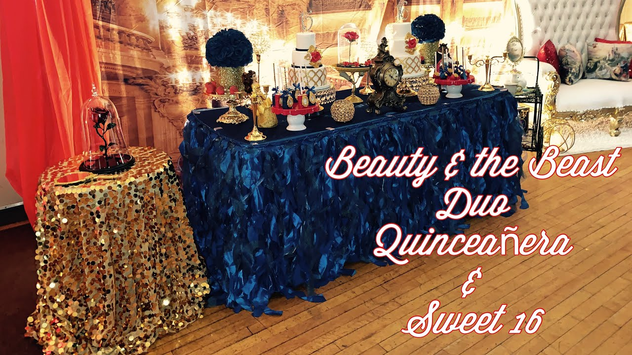 Beauty And The Beast Duo Quinceanera Sweet 16 Youtube