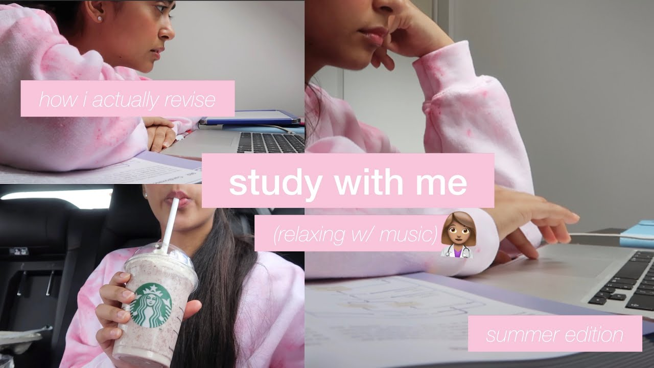 study with me (relaxing) - how i actually revise (summer edition)