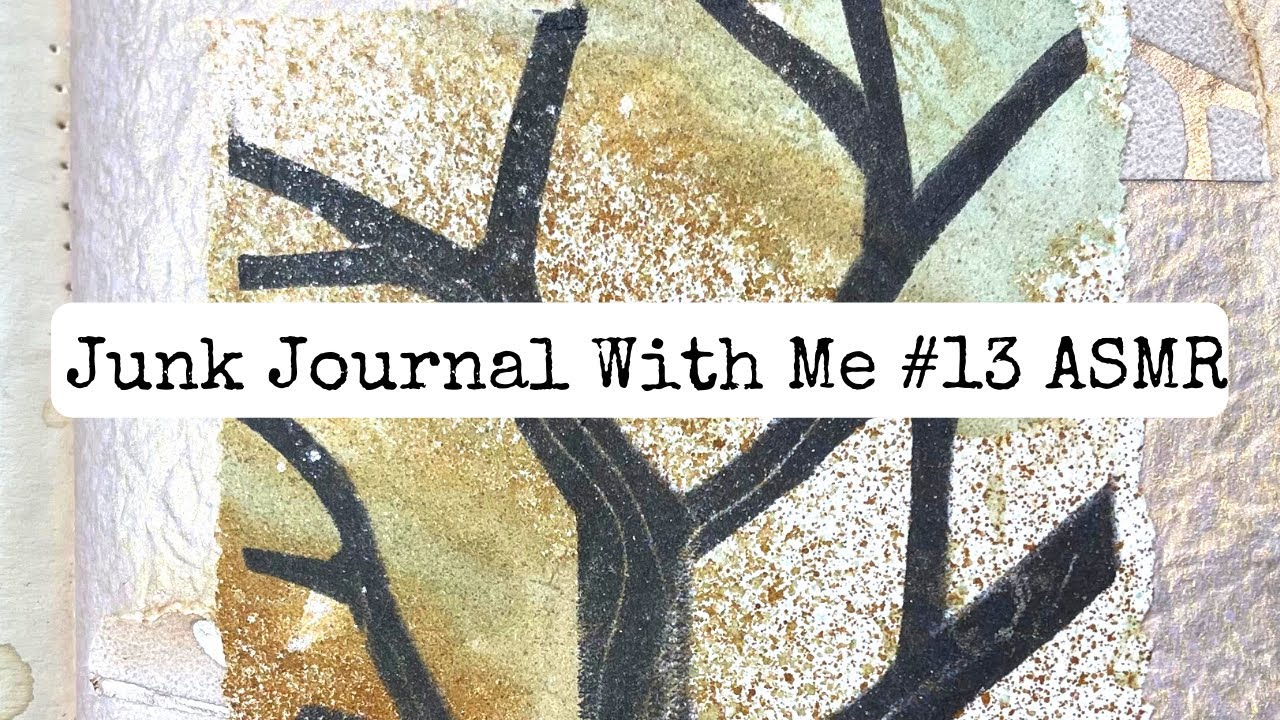 Junk Journal With Me ASMR #13 Paper Sounds/no Music/no Talking