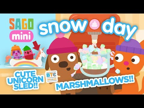 Sago Mini Snow Day - Hot chocolates, marshmallows and sleds!
