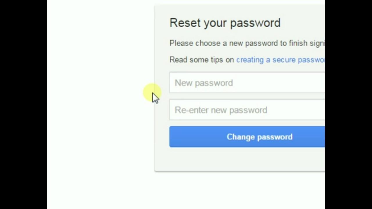 Solusi lupa password akun GMAIL - YouTube