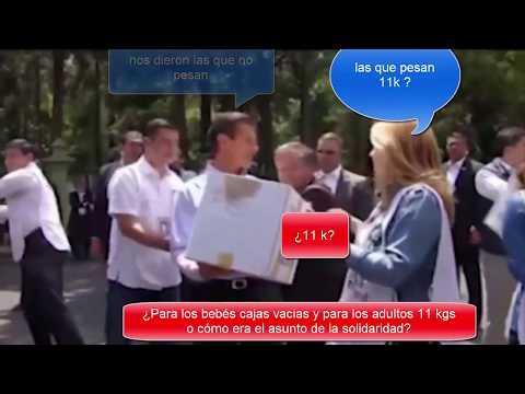 Peña Nieto evidencía a su esposa quien envía cajas vacías a damnificados