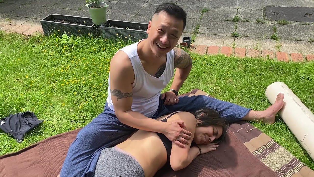 ASMR Outside Educational Massage - P1 DIANA FROM PERU - Pay It Forward - Tao Chi Kai