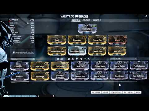 Warframe Valkyr Eternal War Build