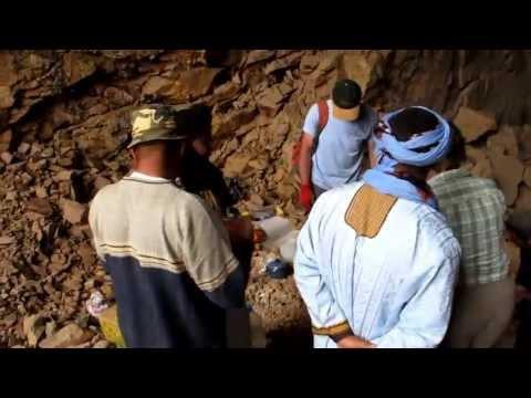 Sidi Bab Ayat, Morocco, Azurite deposit, 2013