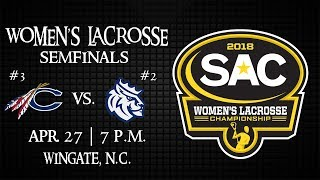 2018 SAC Women's Lacrosse Semifinals - #3 seed Catawba vs #2 seed Queens