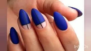 Синий маникюр Дизайн ногтей 2020 Идеи маникюра