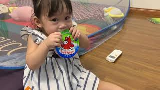 Baby mimi eats cheese and drinks yakult ❤️❤️ Mimi food and toys review