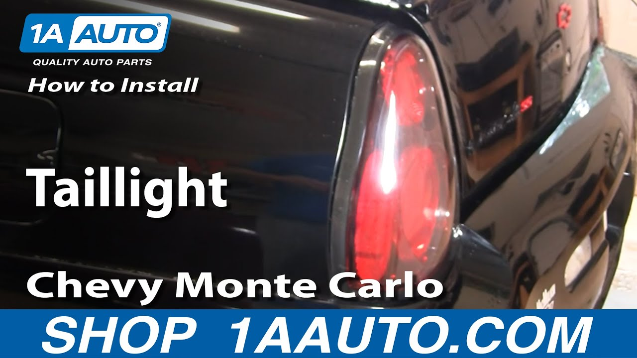 How To Replace Tail Lights 00 05 Chevy Monte Carlo