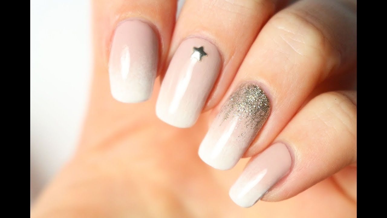 Le Nail Art Baby Boomer Facile Et Tout Doux Bridal Manicure Youtube