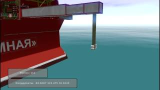 Simulator for evacuation  from offshore production platforms