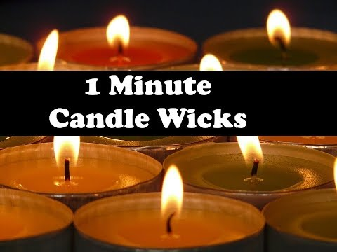 How to Make Your Own Candle Wicks (1 Minute)