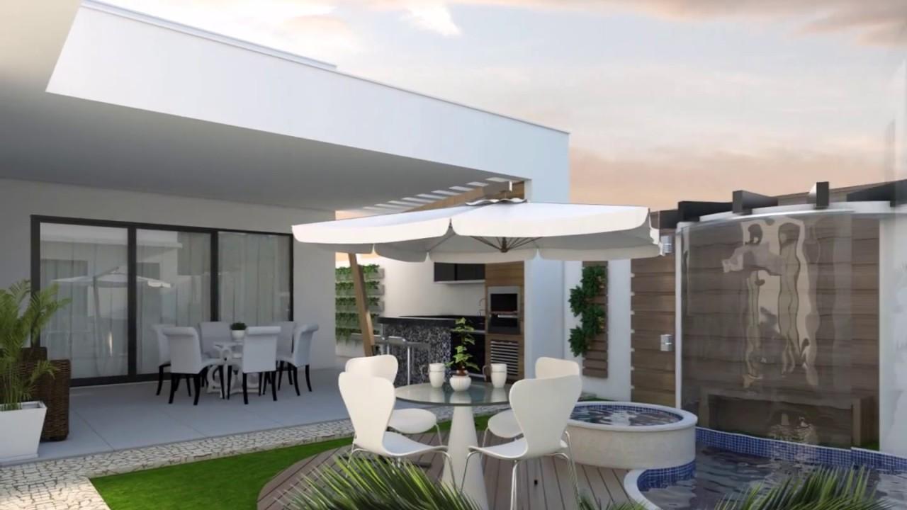 projeto residencial casa terrea arquitetura moderna branca