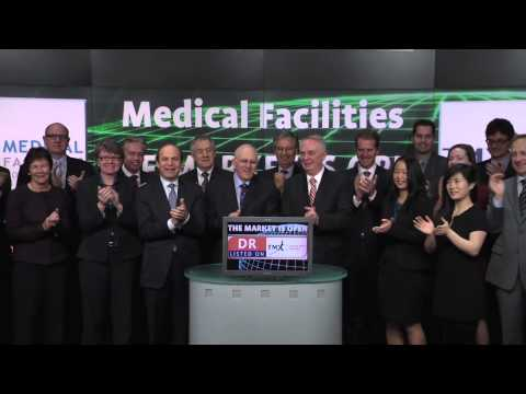 Medical Facilities Corporation (DR:TSX) Opens Toronto Stock Exchange, March 31, 2014.