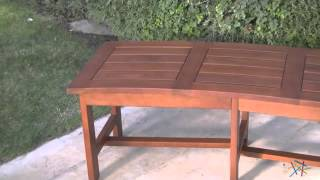 Firepit Curved Wood Bench - Natural - Product Review Video