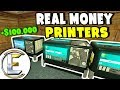 Real New Money Printers - Gmod DarkRP Life (Making $100,000 Faster Than Robbing The Bank)