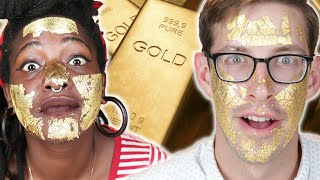 People Try A 24K-Gold Face Mask