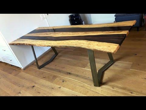 Dining table - Ironwood/Katalox Live Edge - Timelapse version