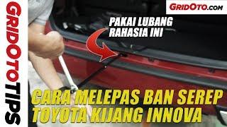 Cara Melepas Ban Serep Toyota Kijang Innova | How To | GridOto Tips