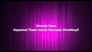 Ninnukori - Agni Natchathiram | Tamil karaoke songs with lyrics